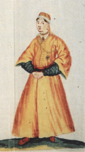 Detail of a palace lady from Bodleian Library, Oxford Ms. Or. 430 (1588)